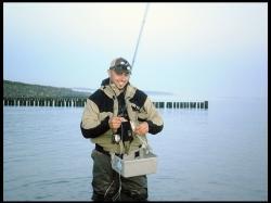 Meerforelle: 1. Meerforelle an der Fliegenrute